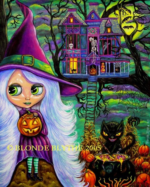"""Halloween Blythe and the Haunted Tree House"" by Blonde Blythe"
