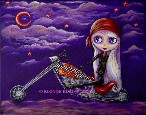 """""""Biker Blythe"""" by Blonde Blythe 2004"""