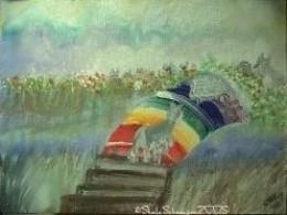 Schnauzie Crossing The Bridge by SheilaSchnauzies