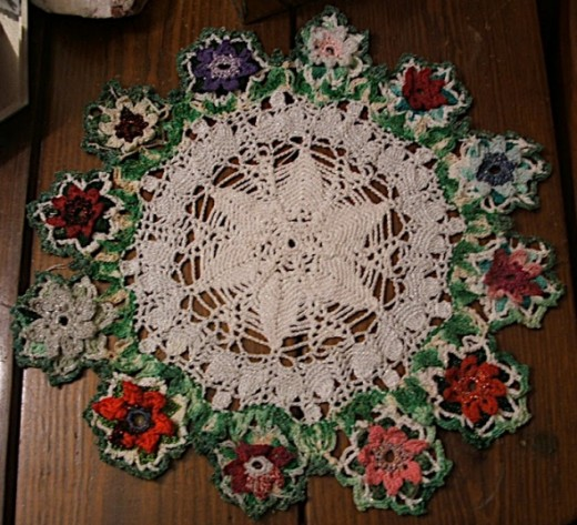 Big Poinsettia Doily (pattern will be in my new pattern book coming in Fall 2012).