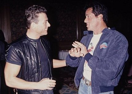 Jean Claude Van Damme and Sylvester Stallone