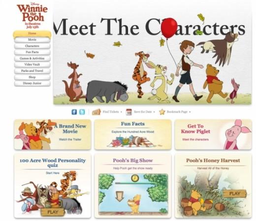WInnie the Pooh Website