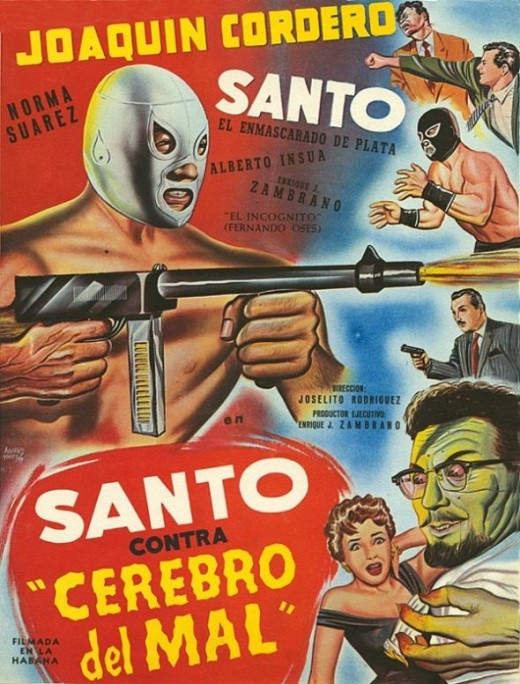 Santo contra el cerebro del mal (Santo Vs. The Evil Brain, 1958)