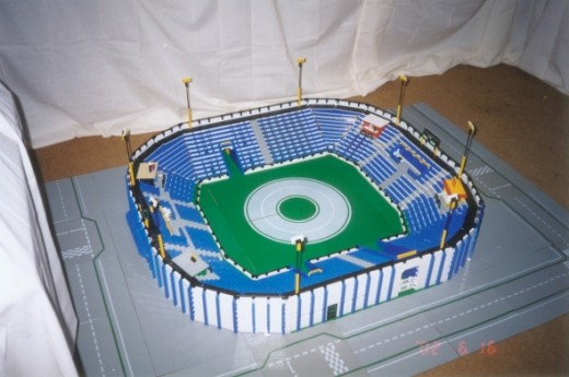 Custom LEGO stadium model by kevinw1
