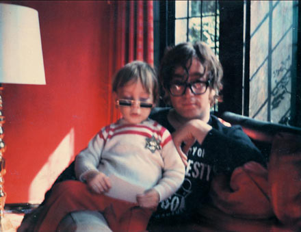 Julian as a child with his father