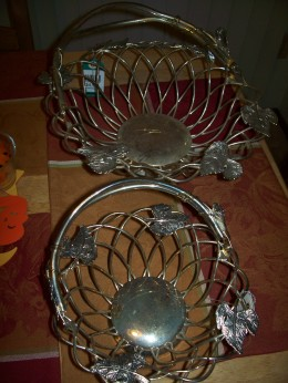 Two tarnished baskets, only cost $8 for both.