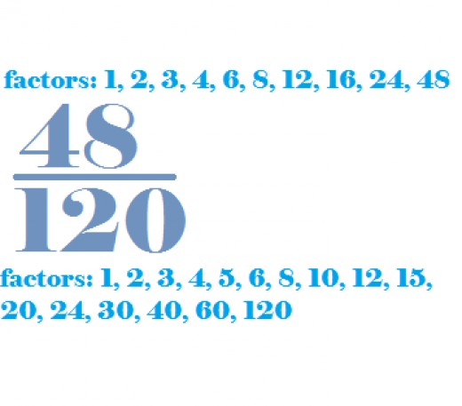 To start reducing a fraction, find the factors of each number.
