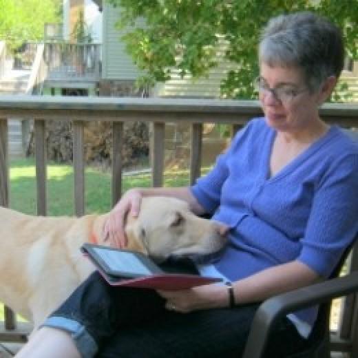 Reading with Daisy.