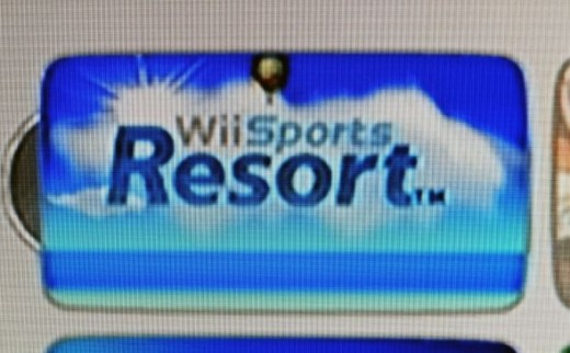 Sports Resort on the Main Nintendo Wii Screen