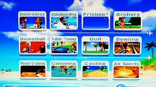 wii Sports Resort main screen