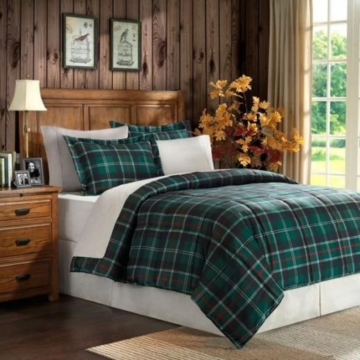 Premier Comfort Suttherland Plaid Down Alternative Microfiber 3 Piece Comforter Set (Available at Amazon)