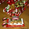 Lets Make Chocolate Candy Cane Sleighs For Christmas
