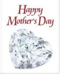 Mothers Day heart diamond greeting card