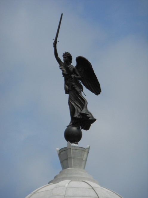 This is the Goddess of Victory on the top of the main Pennsylvania monument in Gettysburg. All images on this page were taken by the author.