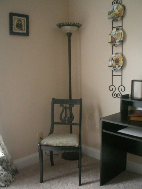 This chair became a nice addition to my French guest room.