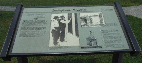 The description in front of the Pennsylvania Monument.