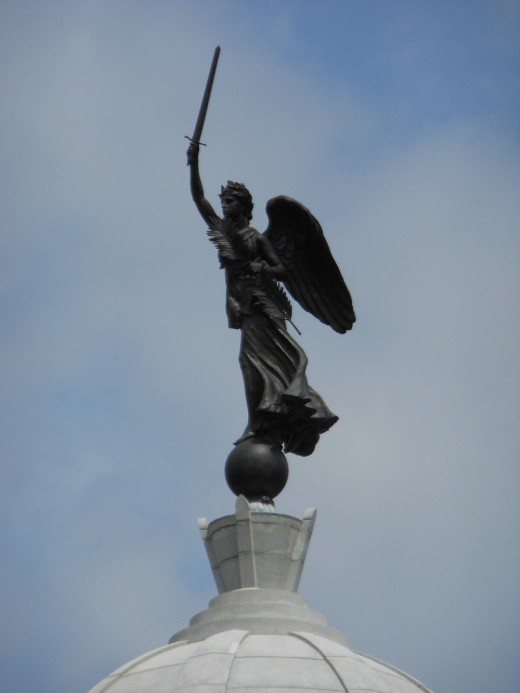 This is the Goddess of Victory on top of the Pennsylvania Monument.