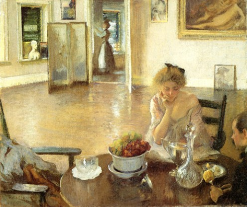 "Edmund C. Tarbell, ""The Breakfast Room, 1903."""