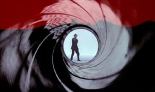 The infamous James Bond opening gun barrel sequence.