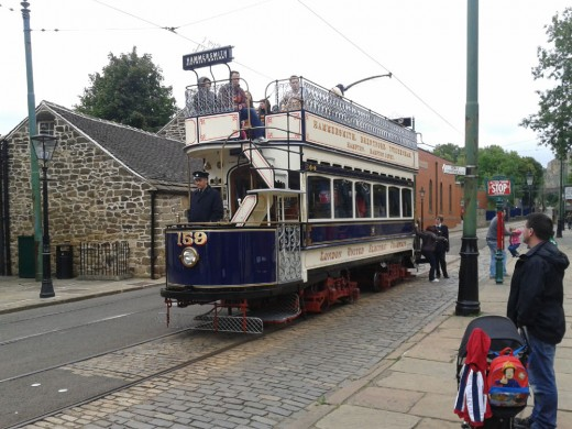 London United Electric Tramways no 159 Tram at Crich