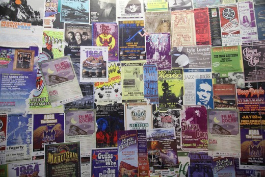 Posters and signs are seldom seen in isolation.