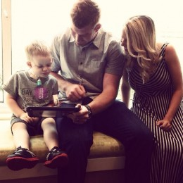 Andy and Jordan Dalton at Cincinnati Children's Hospital