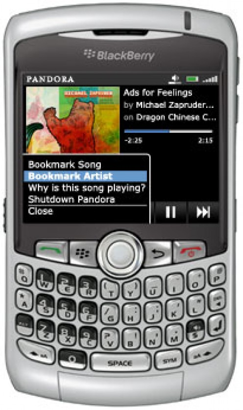 You can still bookmark and find out more information about your songs with the Pandora Blackberry app