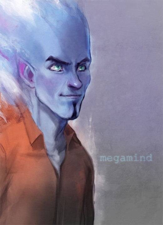 This piece was created by lukadron from DevaintArt.  Megamind © Dreamworks Animation