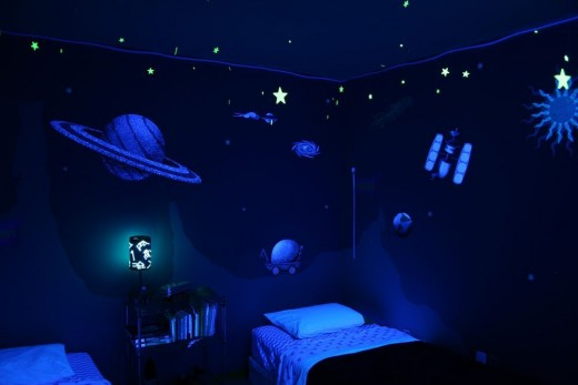 Glow-in-the-Dark Outer Space Wall Decals (link below)