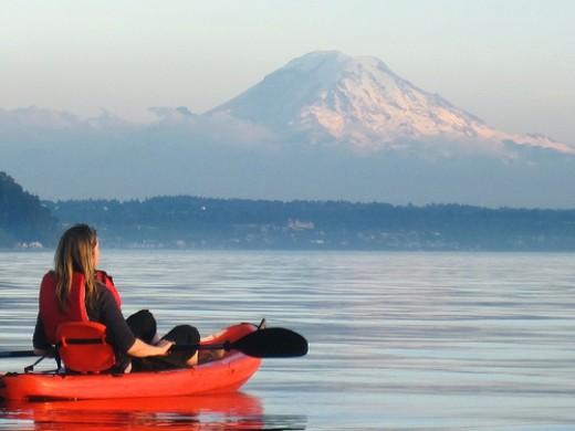 Kayaking on Puget Sound