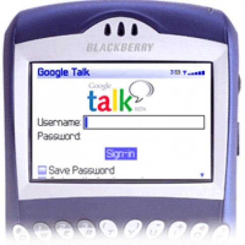 Google Talk on your Blackberry lets you take your IM conversations with you everywhere