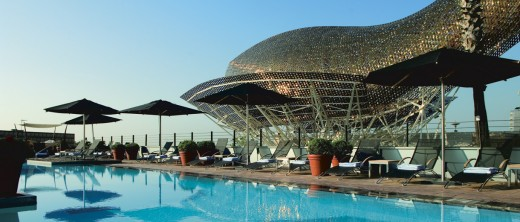 Pool area, Hotel Arts Barcelona- Ritz Carlton