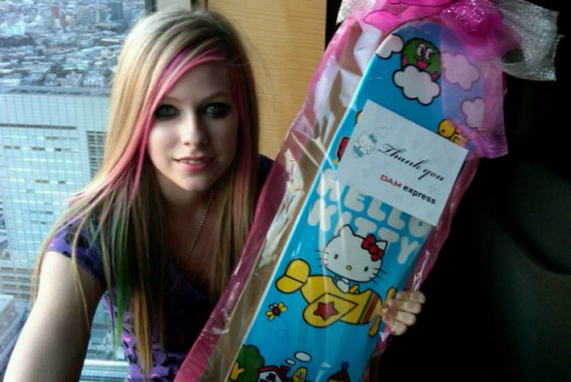 Yes, Avril. You're just like Sid Vicious. Was he also into Hello Kitty, too?