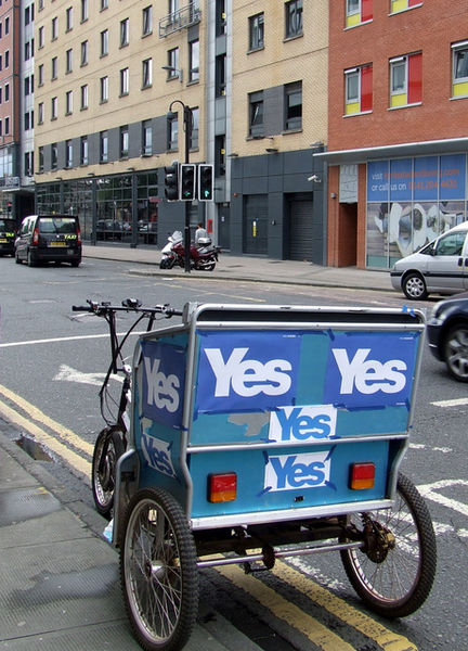 The Yes Campaign had some ingenious ways to get their message heard.
