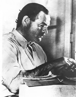 "Earnest Hemingway working on ""For Whom the Bell Tolls"""
