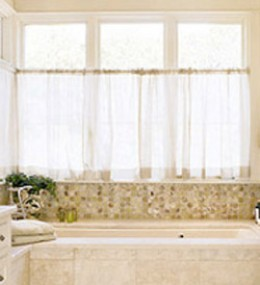 Bathroom Window Treatments on Bathroom Window Treatments And Curtains