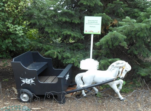 This horse and buggy is from the original Hershey garden by Milton Hershey.