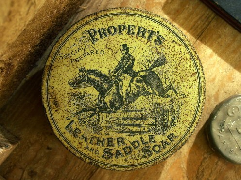 Propert's Leather and Saddle Soap used in World War One 1914-1918 when horses were the main method of transporting men and munitions.