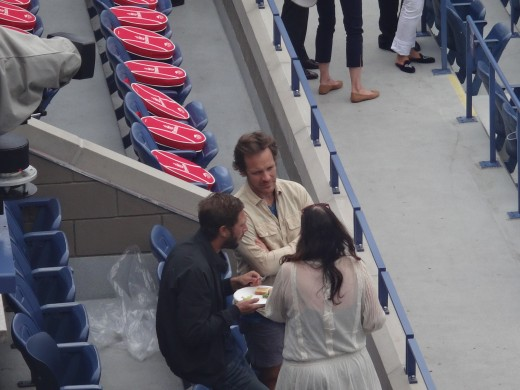Peter Sarsgaard has been seen at the US Open 2014 finals.