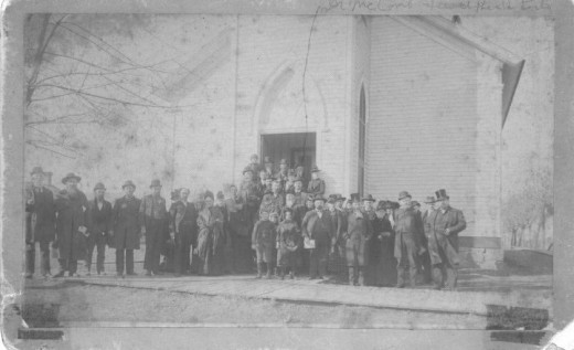 """First Christian Church of Lebanon, MO in 1890's,"""