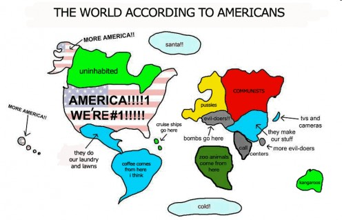 The way America sees the world.