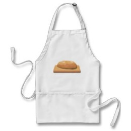 You need a cute apron when making bread.