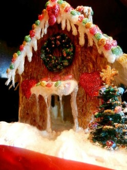 How To Create A Gingerbread or Fairy House Out Of Glue Sticks