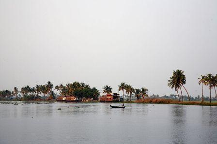 Boat in Kerala backwater