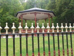 Victoria Park Bandstand at Crich Tramway Village.