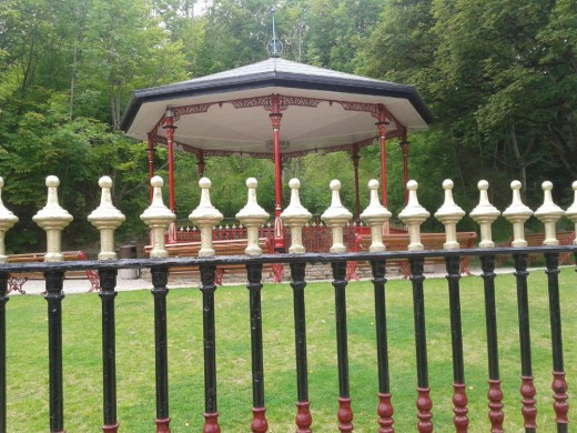 Victoria Park Bandstand at Crich Tramway Village.