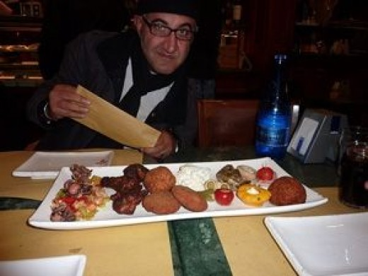 bar food or cicchetti in Venice