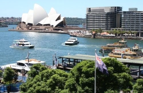 Sydney from the Cahill Expressway Walk