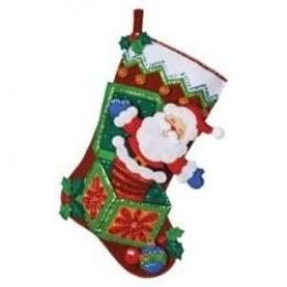 Bucilla Christmas Joy Ornaments Felt Applique Kit