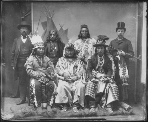 Umatilla Indians (plus two white men)